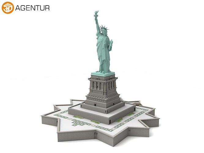 statue of liberty new york 3d model cgtrader