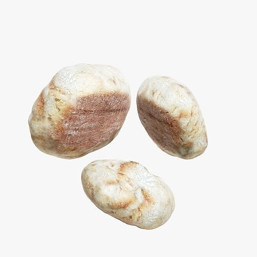 bread roll 3d model low-poly max obj mtl lwo lw lws lxo lxl 1