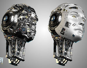 3D model Futuristic Robot Head