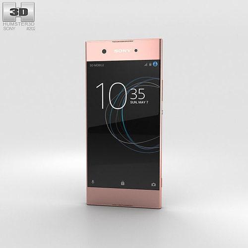 sony xperia xa1 pink 3d model max obj mtl 3ds fbx c4d lwo lw lws 1