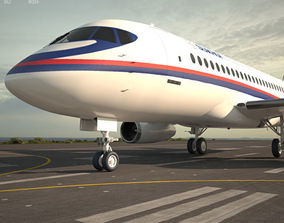 3D model Sukhoi Superjet 100