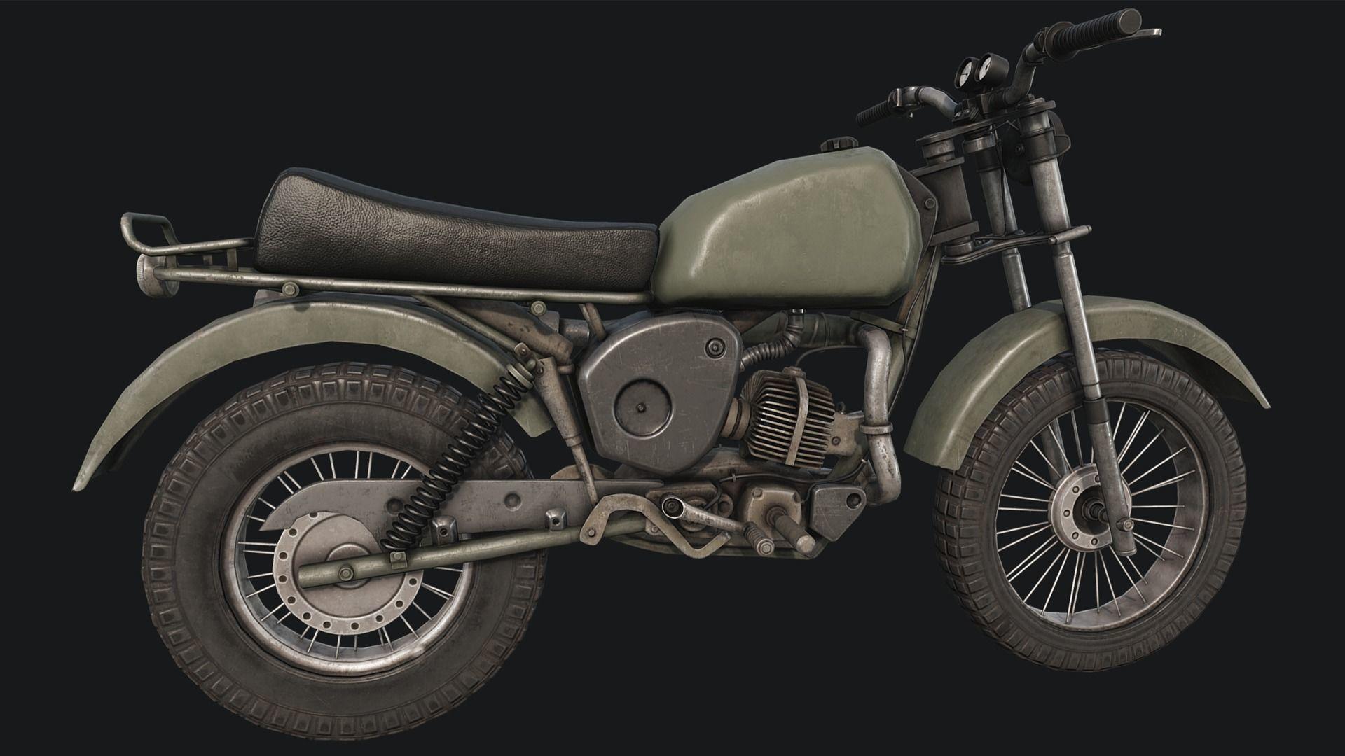 Old Motorcycle PBR | 3D model