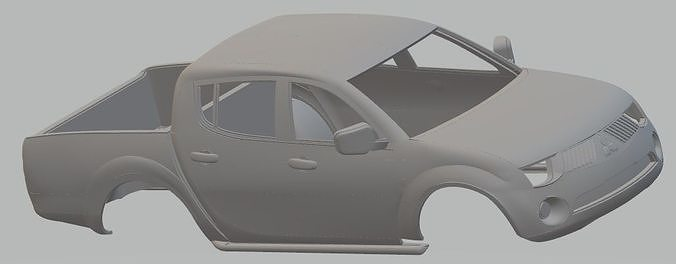 mitsubishi l200 printable body car 3d model max stl 1