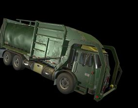 3D model animated Garbage Truck
