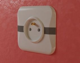 3D asset electric outlet 2