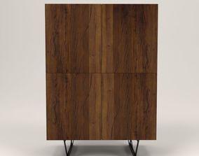 3D model Rubio wood cabinet
