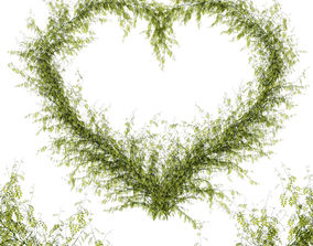 Leaf heart 3D model