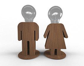 VR / AR ready light Lamp MAN WOMAN 3D