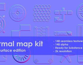 Normal map kit Hard Surface edition 3D model
