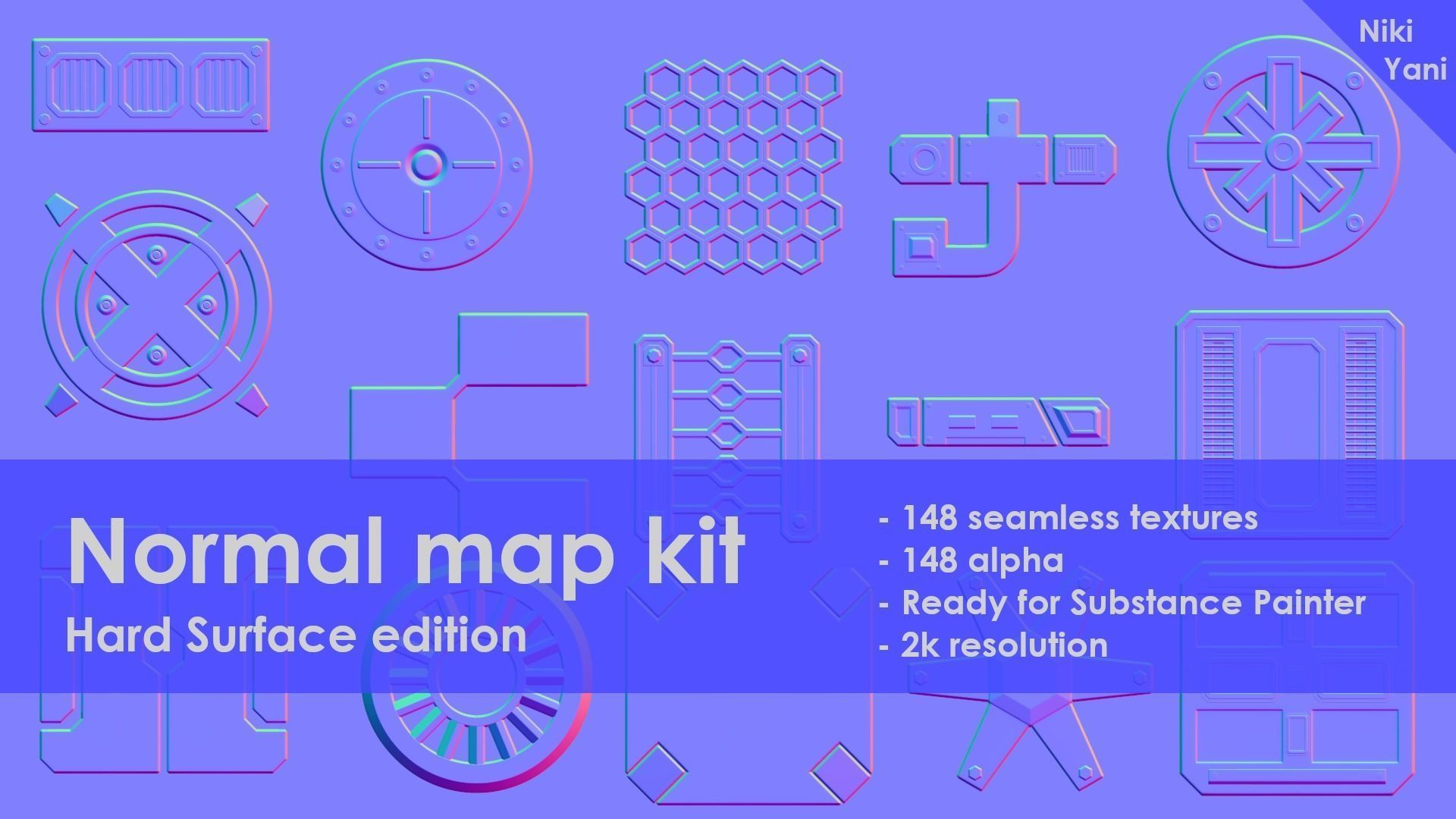 Normal map kit Hard Surface edition | Texture