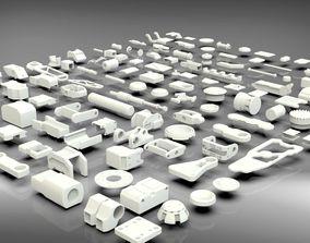 Hard Surface Sci-Fi Industrial KitBash V-4 3D asset