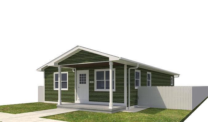 house-045 3d model max obj mtl 3ds fbx dwg 1