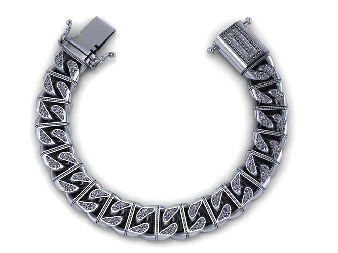 chain bracelets 07 3d model obj mtl 3ds fbx stl 1