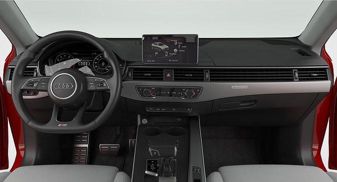3d Model Audi A4 Avant 2019 Detailed Interior Cgtrader