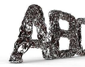 3D model Dual Mesh Fonts