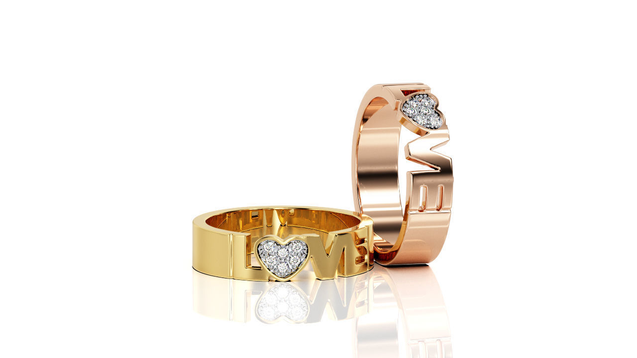 Love Ring Band R 0096
