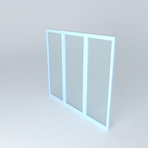 slides window 3d model max obj 3ds fbx stl dae 1