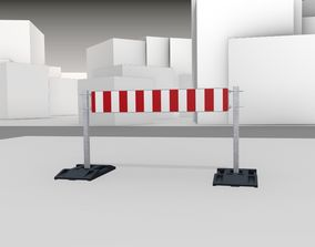 3D asset Construction Barrier Version 3 600-34