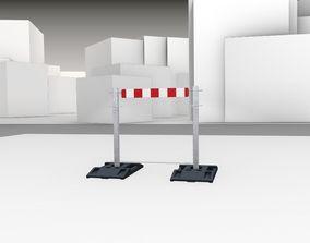 3D asset Construction Barrier Version 3 600-30 100x800mm