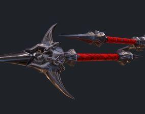 3D model Classic Whip Vampire Killer