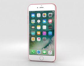 3D Apple iPhone 7 Plus Red