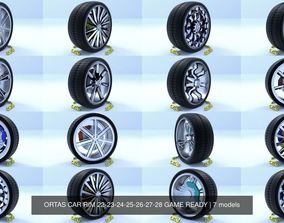 ORTAS CAR RIM 22-23-24-25-26-27-28 GAME READY 3D