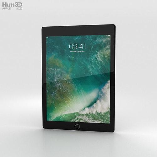 apple ipad 9-7-inch cellular space gray 3d model max obj mtl 3ds fbx c4d lwo lw lws 1