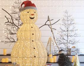 Christmas snowman 3D