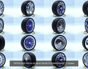 ORTAS CAR RIM 64-65-66-67-68-69-70 GAME READY 3D model