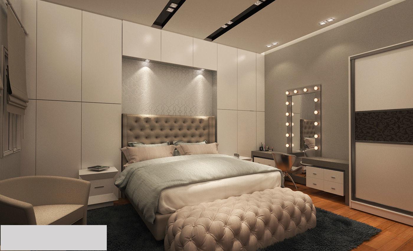 Modern master bedroom | 3D model