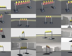 70 Different Types of Construction Site Barriers 3D model