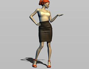 3D printable model Businesswoman
