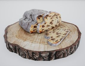 Christmas Stollen Norvedem 3D model low-poly