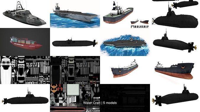 water craft 3d model obj mtl 3ds fbx blend flt unitypackage prefab 1