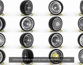 3D model ORTAS CAR WHEEL RIM 87-88 GAME READY WHEEL