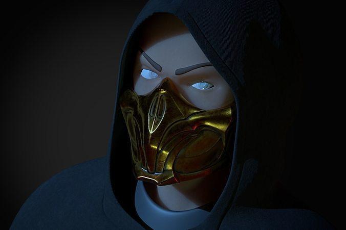 Scorpion Mask Mortal Kombat 11 3d Model 3d Printable Stl