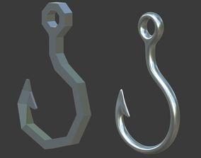Fish hook 3D asset