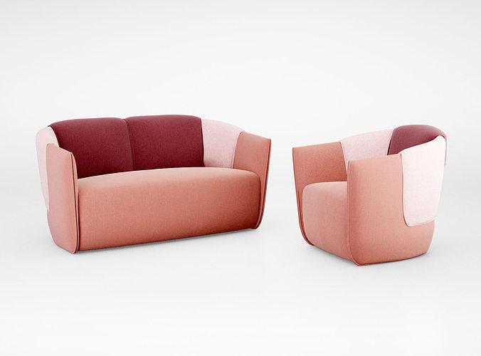 johanson norman sofa and armchair 3d model max obj mtl tga 1