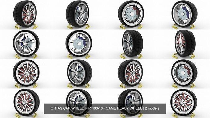 ortas car wheel rim 103-104 game ready wheel 3d model obj mtl fbx blend 1