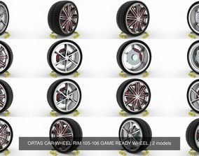 ORTAS CAR WHEEL RIM 105-106 GAME READY WHEEL 3D model