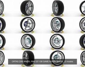 ORTAS CAR WHEEL RIM 137-138 GAME READY WHEEL 3D