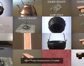 3D model Game Ready Camping Items