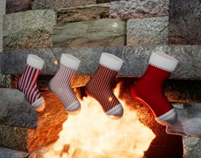 Sock for present Norvedem 3D asset