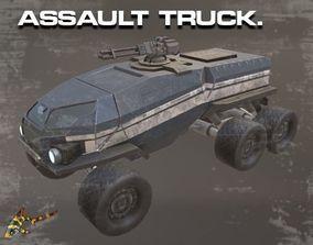 3D asset ASSAULT TRUCK