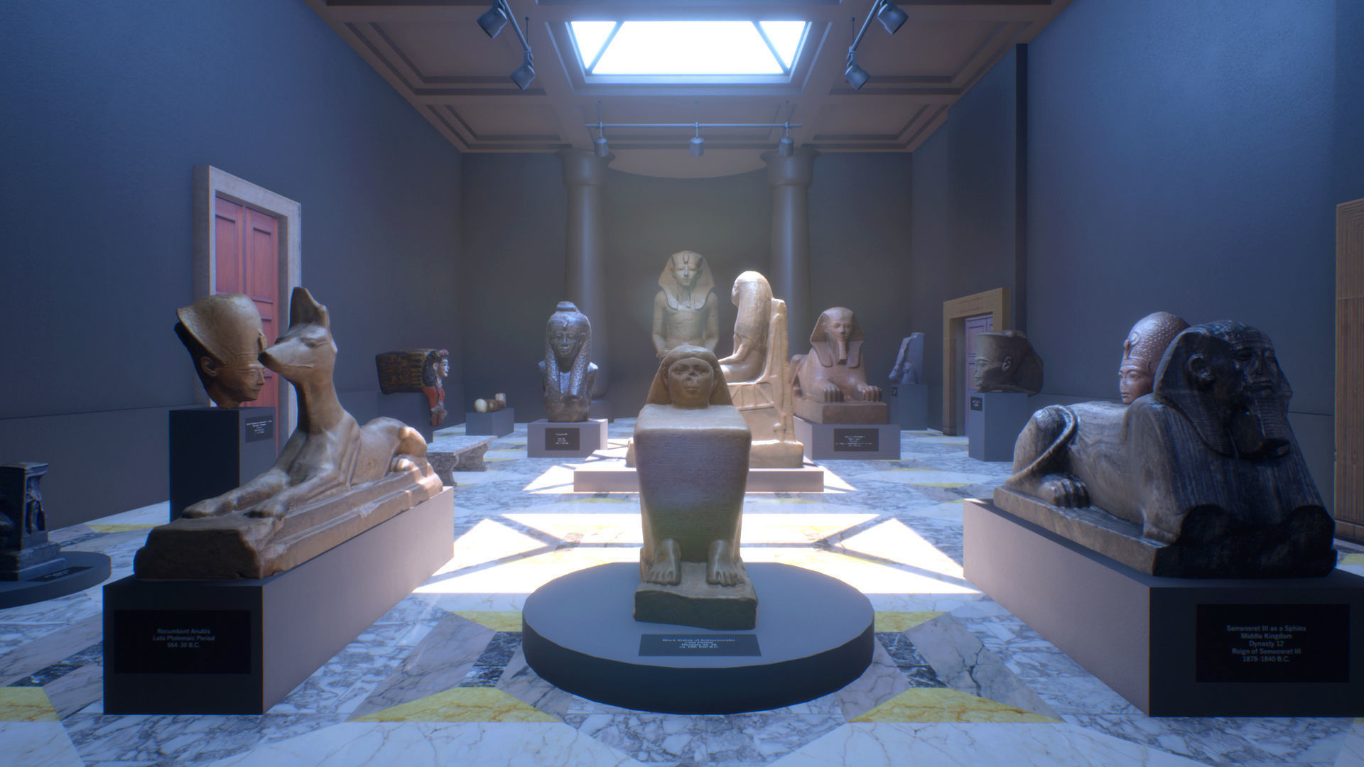 UE4 - Museum VR - Vol II - Ancient Egypt 3D model