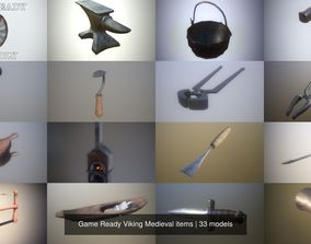 Game Ready Viking Medieval items 3D