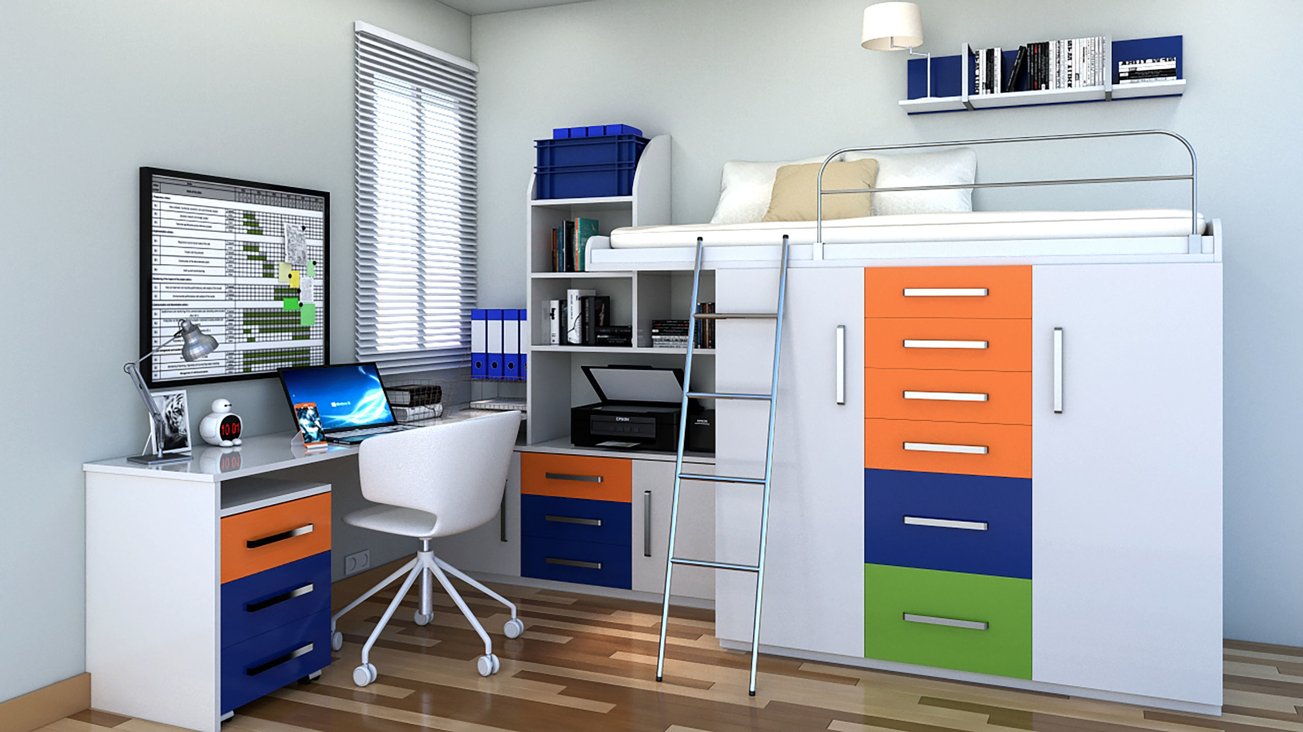 HOME OFFICE SPACE SAVING IDEA   3D model