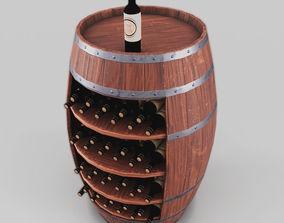 3D Wine barrel stand
