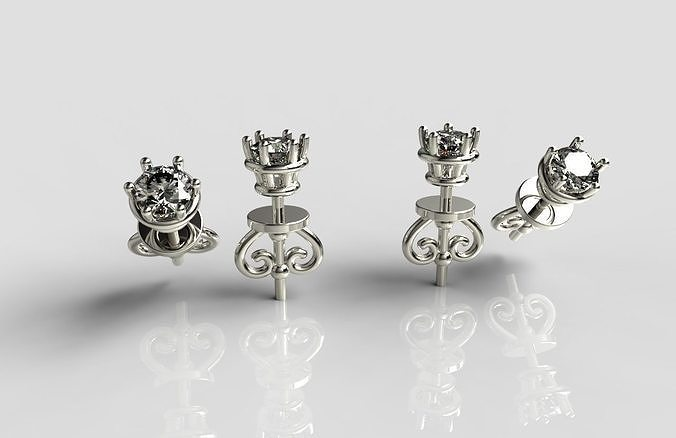 earrings 3d print model 3d model stl 3dm 1