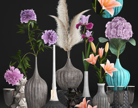 3D Collection of flower bouquets